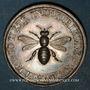 Coins Alsace. Mulhouse. Société Industrielle. Jeton de présence. Argent. Poinçon : lampe antique