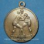 Coins Alsace. Mulhouse. Tournoi athlétique. (1898). Laiton argenté. 29 mm. Avec son oeillet