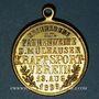 Coins Alsace. Mulhouse. Tournoi athlétique - Bénédiction du drapeau. 1899. Médaille laiton. 29 mm