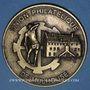 Coins Alsace. Mulhouse. Union Philatélique de Mulhouse. Médaille métal bronzé. 69 mm, uniface
