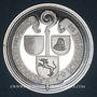Coins Alsace. Murbach. Association des amis de Murbach. 1979. Médaille argent 50,4 mm