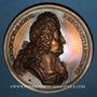 Coins Alsace. Neuf-Brisach. Les Fortifications. 1699. Bronze. 69,47 mm. Gravée par Roettiers et Roussel
