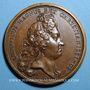 Coins Alsace. Neuf-Brisach. Les Fortifications. 1699. Médaille cuivre. 41 mm. Gravée par Mauger