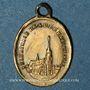 Coins Alsace. Pèlerinage de Notre Dame de Marienthal (19e siècle. Médaille laiton. 7,6 x 10,8 mm