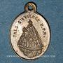 Coins Alsace. Pèlerinage de Notre Dame de Marienthal (19e siècle. Médaille laiton. Laiton. 9,9 x 14,4 mm