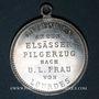 Coins Alsace. Pèlerinage féminin à Lourdes. Médaille aluminium