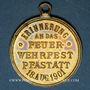 Coins Alsace. Pfastatt. Fête des Pompiers. 1901. Médaile laiton. 29,06 mm
