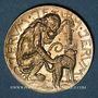 Coins Alsace. Ribeauvillé. Cercle académique de Rappolstein. Médaille maillechort. 22,6 mm