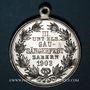 Coins Alsace. Saverne. 3e concours de chant du Bas-Rhin. 1903. Médaille aluminium. 33,65 mm