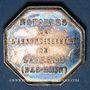 Coins Alsace. Saverne. Notaires. Jeton argent octogonal. 30 mm