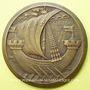 Coins Alsace. Saverne. S. I. de Saverne à la Foire de Paris. 1933. Médaille bronze. 59,2 mm