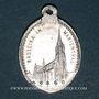 Coins Alsace. Souvenir de Notre Dame de Marienthal (19e siècle). Médaille aluminium. 16 x 22,46 mm