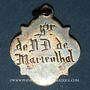 Coins Alsace. Souvenir de Notre Dame de Marienthal (19e siècle). Médaille argent. 19,96 x 22,87 mm