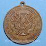 Coins Alsace. Strasbourg. 1ère fête des chanteurs d'Alsace-Lorraine. 1891. Médaille cuivre. 33,4 mm