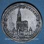 Coins Alsace. Strasbourg. 25e anniversaire Association strasbourgeoise de tir. 1901. Médaille étain. 39 mm