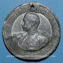 Coins Alsace. Strasbourg. 25e anniversaire du 15e régiment d'artillerie. 1896. Médaille étain. 40,3 mm