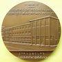 Coins Alsace. Strasbourg. 30e anniversaire du Centre de Recherche Macromoléculaire. 1977. Médaille bronze