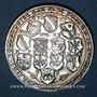 Coins Alsace. Strasbourg. 4e centenaire de la fête du tir de 1590. 1990. Médaille argent. 41,5 mm