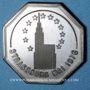 Coins Alsace. Strasbourg. 73e congrès des notaires de France. 1976. Jeton argent. 33 mm
