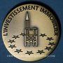 Coins Alsace. Strasbourg. 93e congrès des Notaires de France. 1997. Médaille bronze. 31,9 mm