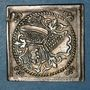 Coins Alsace. Strasbourg. Alliance avec Zurich et Berne. 1588. Klippe argent. 23,45 x 23,49 mm