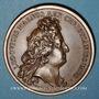 Coins Alsace. Strasbourg assujettie et Casale remise au roi, 1681. Médaille bronze. Refrappe
