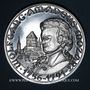 Coins Alsace. Strasbourg. Bicentenaire de la mort de Mozart. 1991. Médaille argent. 42 mm