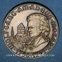 Coins Alsace. Strasbourg. Bicentenaire de la mort de Mozart. 1991. Médaille bronze. 42 mm