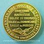 Coins Alsace. Strasbourg. Bicentenaire de la mort de Mozart. 1991. Médaille or. 42 mm. Gravée par Steiner