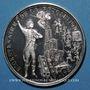 Coins Alsace. Strasbourg. Bicentenaire de la Révolution. 1989. Médaille argent. 42 mm