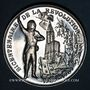 Coins Alsace. Strasbourg. Bicentenaire de la Révolution. 1989. Médaille étain. 42 mm