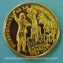 Coins Alsace. Strasbourg. Bicentenaire de la Révolution. 1989. Médaille or. 42 mm. Par F. Steiner. 8 ex !