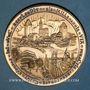Coins Alsace. Strasbourg. Bimillénaire. 1988. Médaille bronze patiné. 60 mm