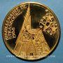 Coins Alsace. Strasbourg. Bimillénaire. 1988. Médaille or pur. 36 mm. Gravée par Victor Huster