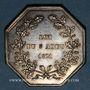 Coins Alsace. Strasbourg. Canal du Rhône au Rhin. 1821. Jeton de présence. Argent