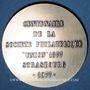 Coins Alsace. Strasbourg. Centenaire de la Société philatélique Union 1877. 1977. Médaille argent. 42 mm