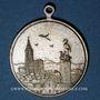 Coins Alsace. Strasbourg. Cercle musical Lyra du Neudorf. 1899. Médaille laiton nickelé. 28,5 mm