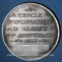 Coins Alsace. Strasbourg. Cercle Numismatique d'Alsace. 6e anniversaire. 1932. Médaille étain argenté
