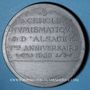Coins Alsace. Strasbourg. Cercle Numismatique d'Alsace. 7e anniversaire. 1933. Médaille plomb. 60 mm