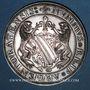 Coins Alsace. Strasbourg. Cinquantenaire du Cercle Numismatique d'Alsace. 1975. Médaille argent. 42 mm