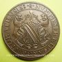 Coins Alsace. Strasbourg. Cinquantenaire du Cercle Numismatique d'Alsace. 1975. Médaille  bronze. 42 mm