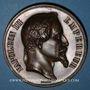 Coins Alsace. Strasbourg. Concours Agricole Régional - Produits agricoles. Médaille 1866. Cuivre.