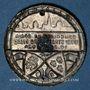 Coins Alsace. Strasbourg. Concours de gymnastique. 1924. Insigne en laiton. 29 mm