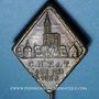 Coins Alsace. Strasbourg. Congrès C.N.P.d.T. 1953. Insigne laiton. 26,5 x 33 mm