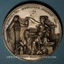 Coins Alsace. Strasbourg. Congrès des Naturalistes. 1885. Médaille bronze argenté. 40,25 mm