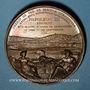 Coins Alsace. Strasbourg. Construction de la ligne de chemin de fer Paris à Strasbourg. 1854.  Bronze