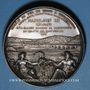 Coins Alsace. Strasbourg. Construction de la ligne de chemin de fer Paris à Strasbourg. 1854. Médaille arg
