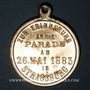 Coins Alsace. Strasbourg. Défilé militaire. 1883. Médaille laiton. 28,40 mm
