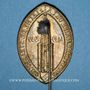 Coins Alsace. Strasbourg. Demi-millénaire de la flèche de la cathédrale de Strasbourg 1939. Insigne laiton