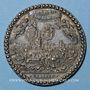 Coins Alsace. Strasbourg. Dietrich, 1er maire. 1790.  Surmoulage argent. 44,26 mm